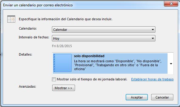 Outlook Calendario.Blog