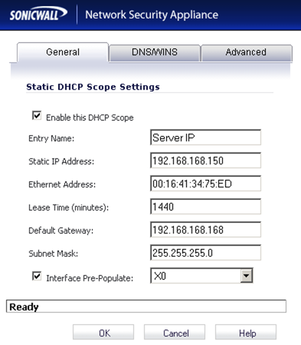 how to find sonicwall ip address